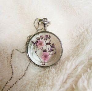 flower encased pendant